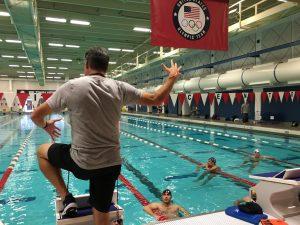 Alexander Steinhart beim Schwimmtraining im US Olympic Training Center