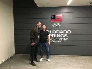 Alexander Steinhart und Chase Kalisz im US Olympic Training Center