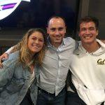 Schwimmtrainer Alexander Steinhart mit Olympioniken Elisabeth Beisel und Nathan Adrian